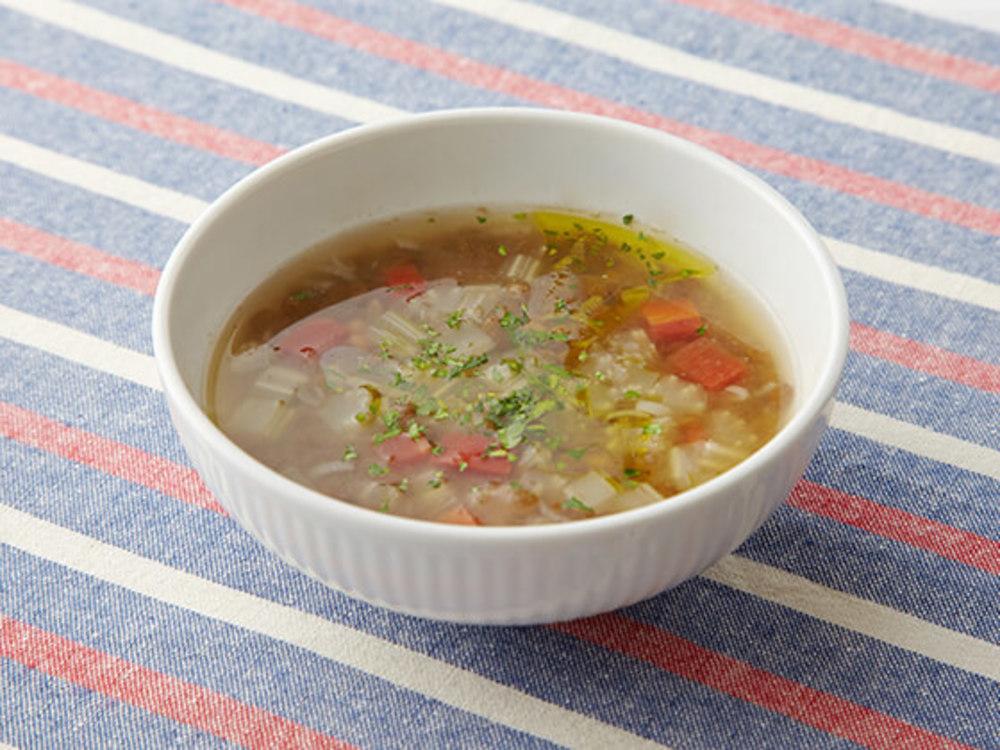 お豆と野菜のスープ