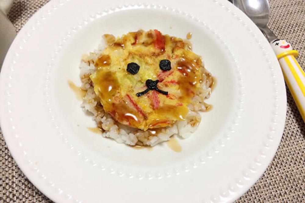 ライオンのお顔をした『天津丼』