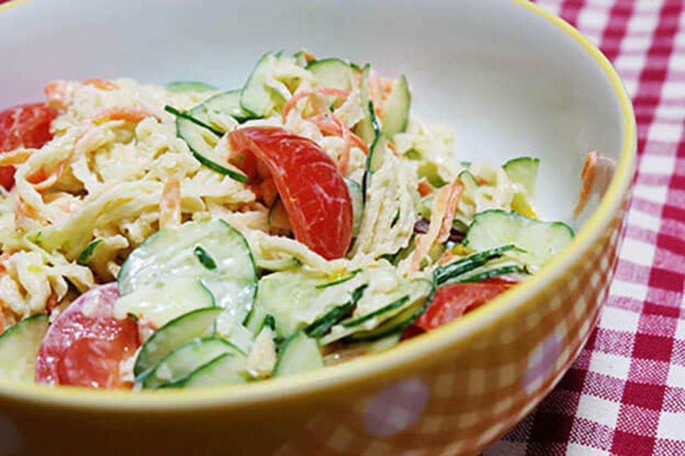 切り干し大根の簡単サラダ