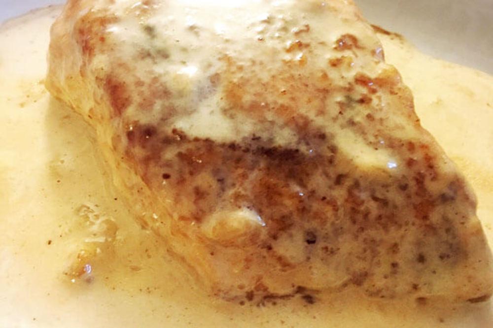 カジキマグロのクリームソテー
