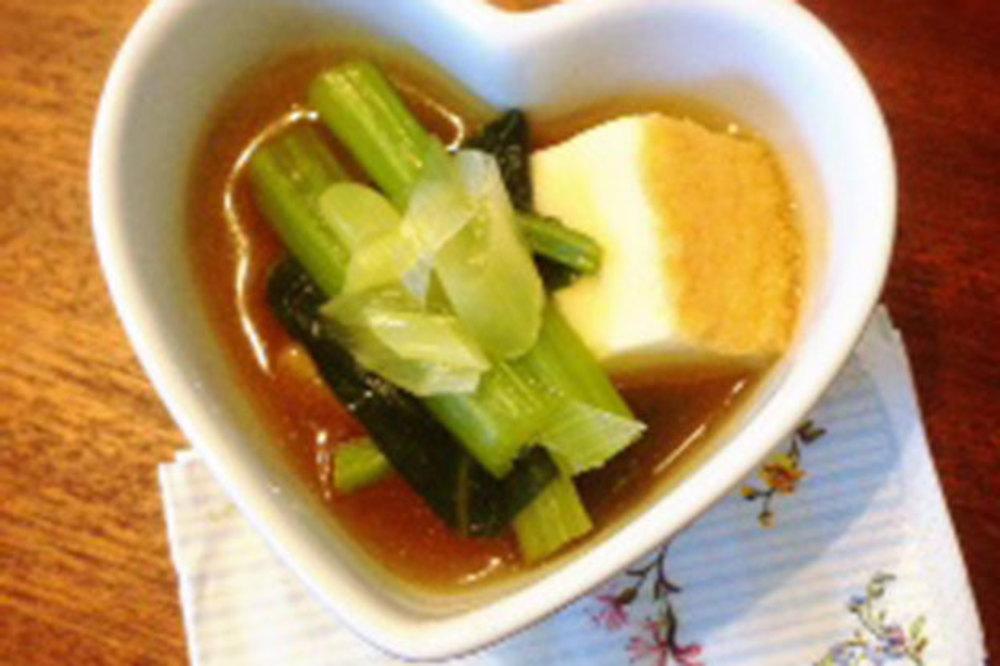 小松菜と厚揚げ豆腐の煮浸し