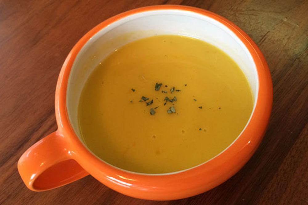 栄養満点かぼちゃ豆乳スープ