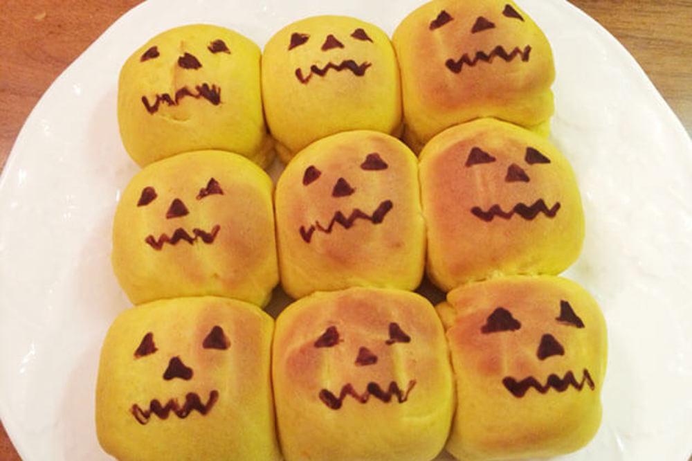 【牛乳、卵不使用】豆乳かぼちゃちぎりパン