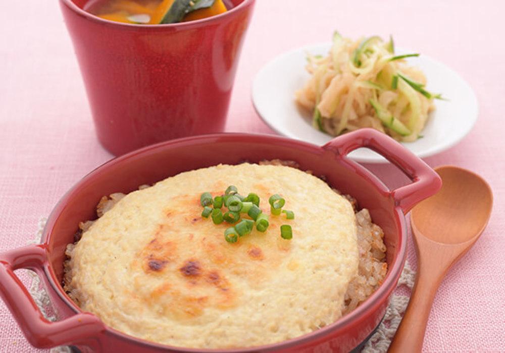 豆腐ホワイトソースの和風ドリア