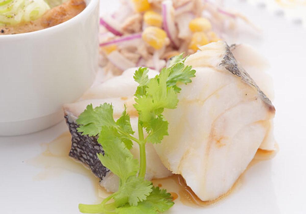 白身魚の湯煮