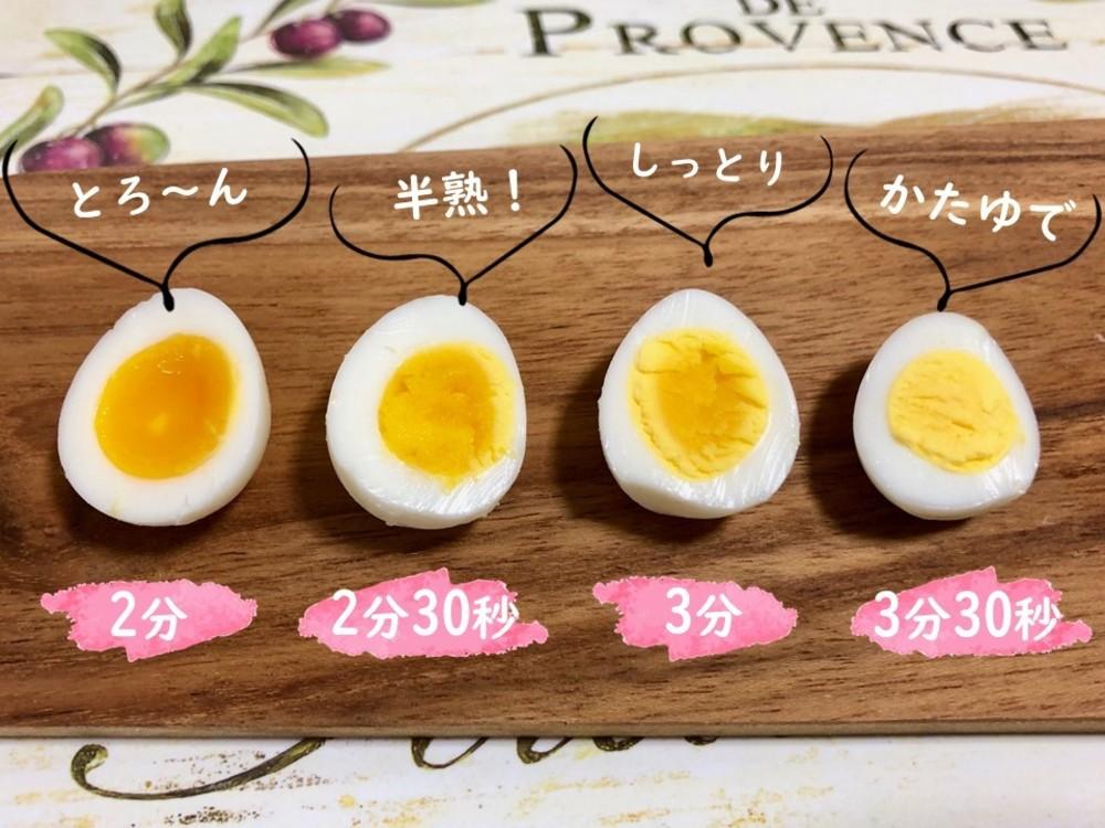 うずらの卵 半熟