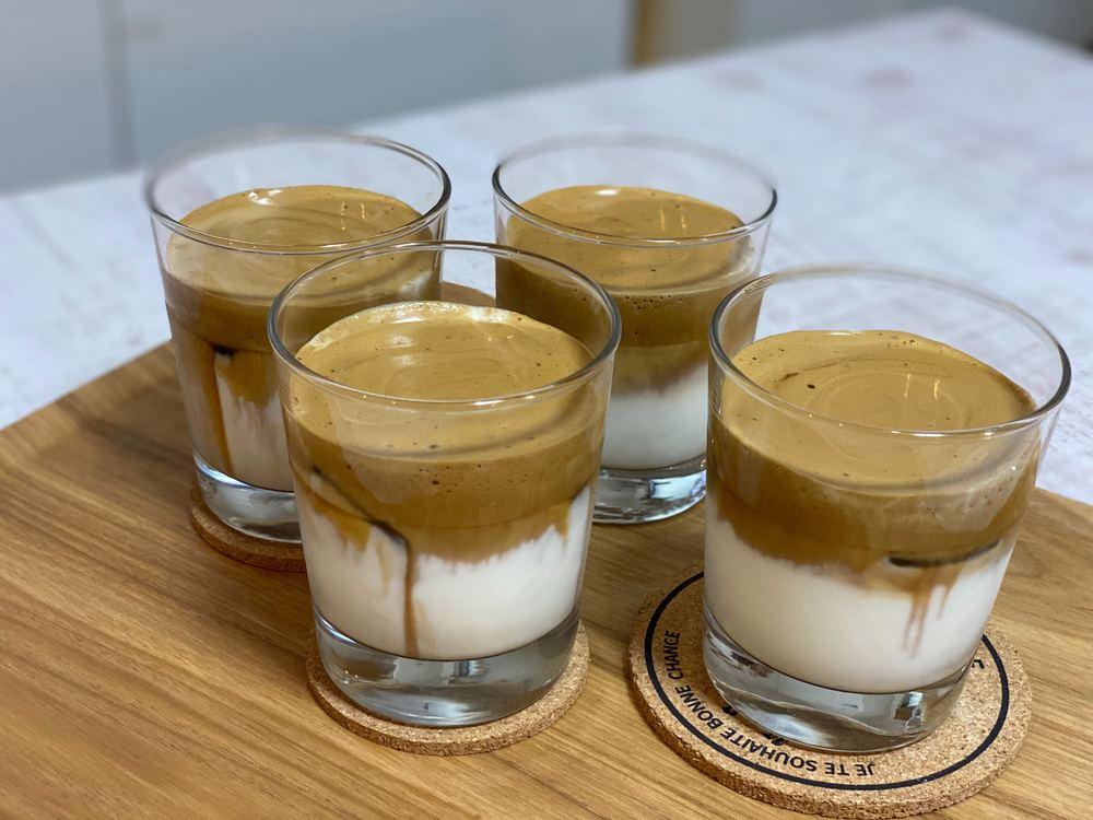 新感覚ラテ♡韓国で話題の見た目も味も抜群!ダルコナコーヒー