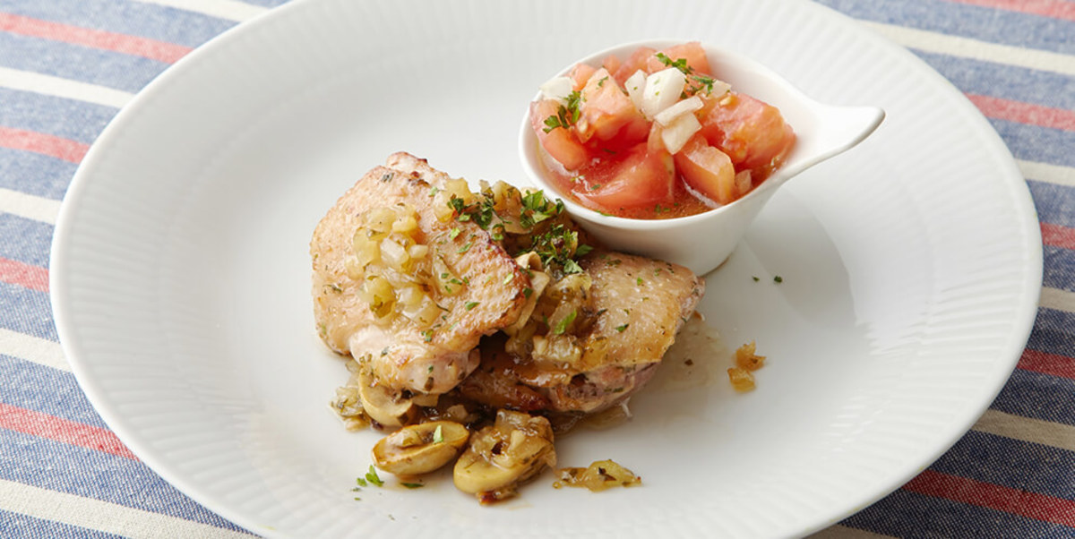 鶏もも肉のカチャトーラ