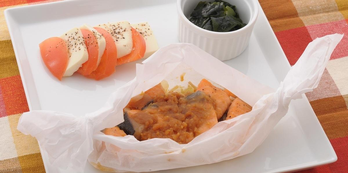 鮭のちゃんちゃんホイル焼き