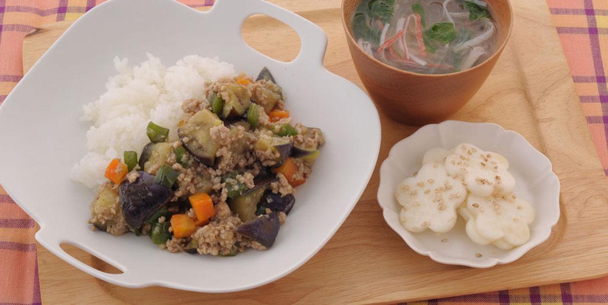カラフル麻婆野菜丼
