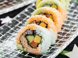 七夕レインボー巻き寿司