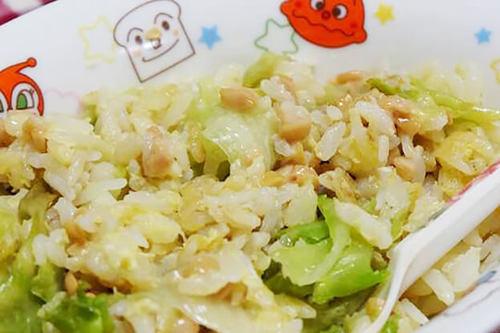 卵レタス納豆チャーハン