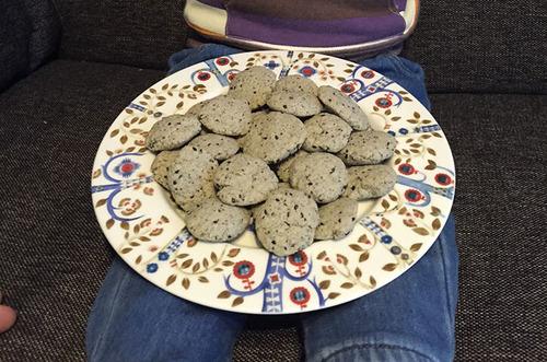 ヘルシー黒ごまクッキー