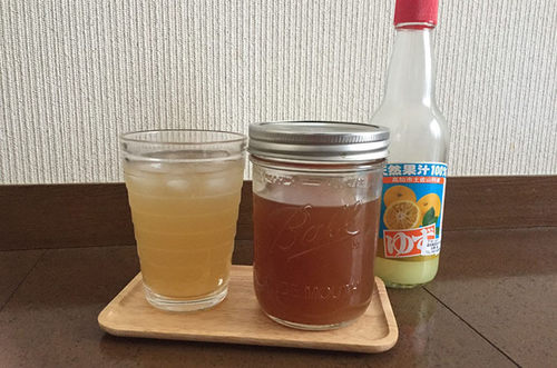 天然柚子果汁でつくる柚子シロップ