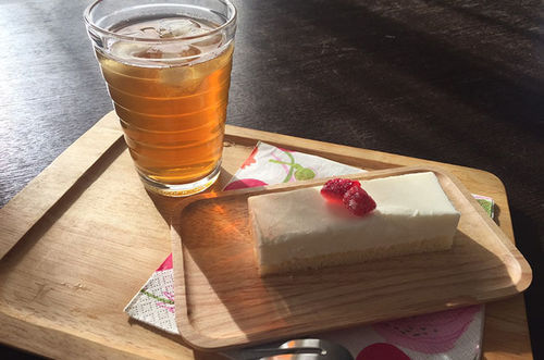 オシャレカフェ風♡ヨーグルトケーキ
