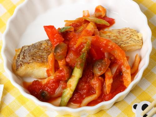 白身魚のソテー~野菜トマトソース~