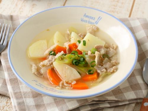 豚じゃがスープ