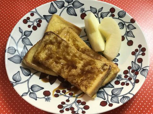 砂糖不使用のヘルシーフレンチトースト