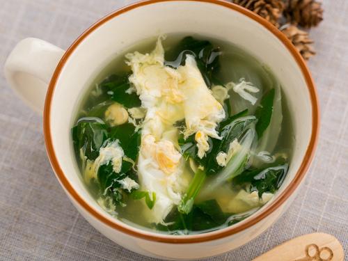 ほうれん草の玉子スープ