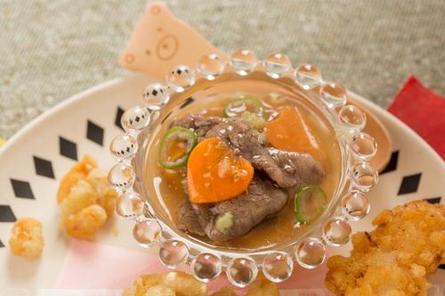 豆腐の牛肉あんかけ