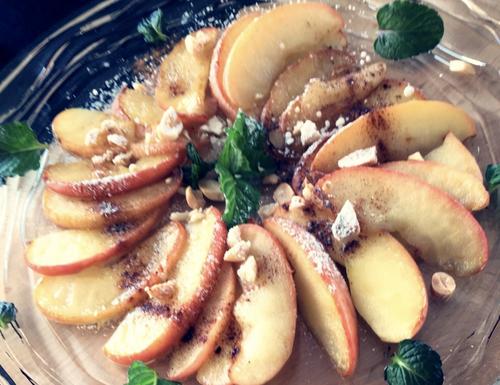 簡単!焼きリンゴスライス