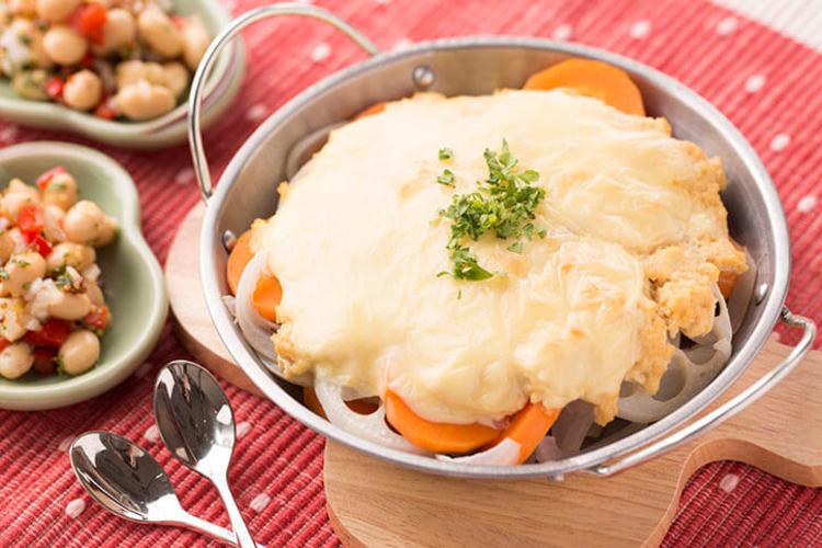 根菜の豆腐グラタン