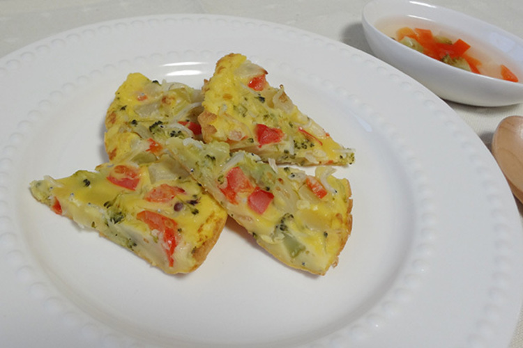 (離乳食)ちりめんじゃことゴロゴロ野菜のチヂミ