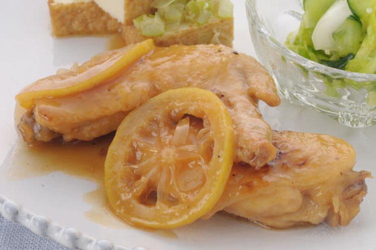 手羽先のハチミツレモン煮