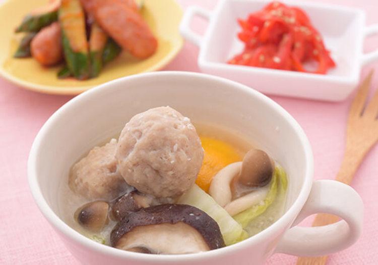 塩麹のとり団子鍋