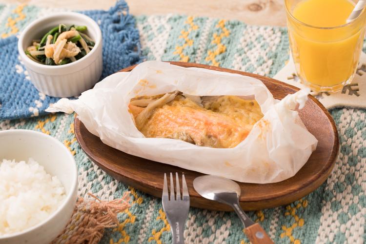 鮭の味噌マヨチーズ焼き