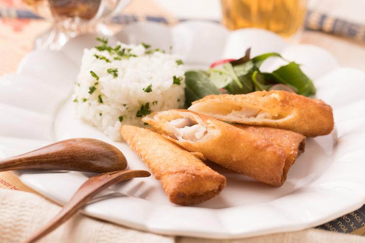 白身魚のタルタル春巻き